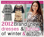 Brand-new dresses & tunics of winter and autumn
